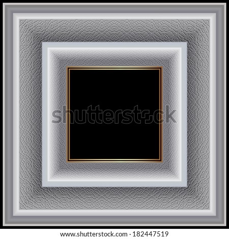 White square frame graceful ornament for photographs and paintings