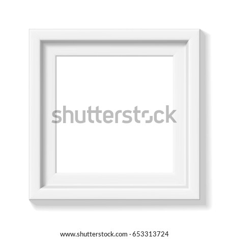 White Square Picture Frame Wide Frame Vectores En Stock 653313724 ...