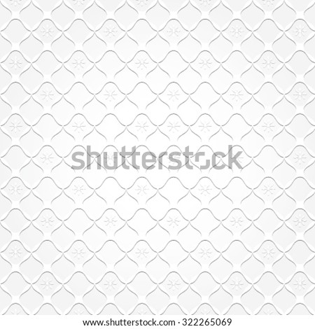 White squares and flowers on white background - vector illustration. - stock vector