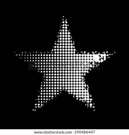 White Star Black Background Illustration Hotbox