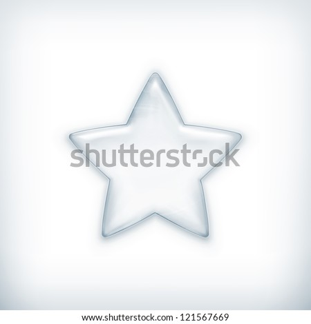 White star, vector - stock vector