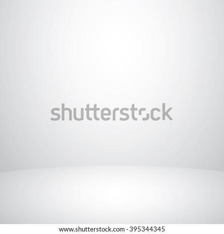 White studio background - Vector EPS 10 - stock vector