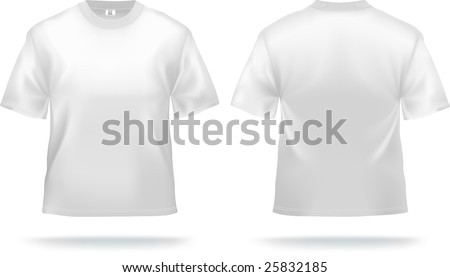 White T-shirt design template (front & back). Contains gradient mesh elements, lot of details. More clothing designs in my portfolio! - stock vector