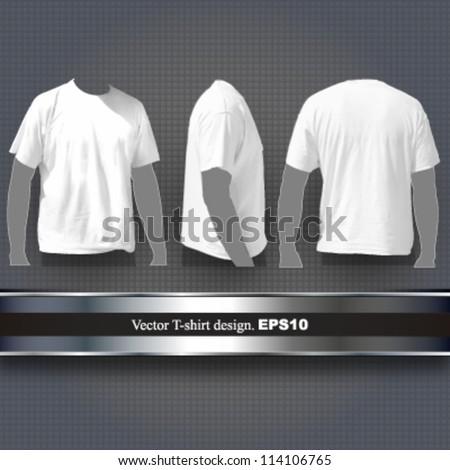 white t shirt design. vector background. - stock vector