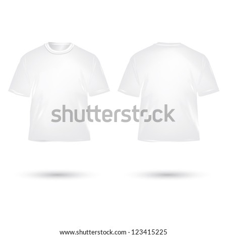 white T shirt on white background