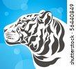 white tiger - stock vector