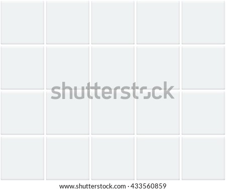 white tile mock up - stock vector