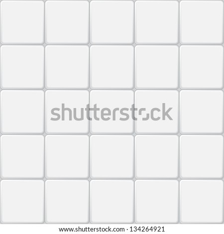 white tile seamless pattern, minimalistic ve?tor background - stock vector