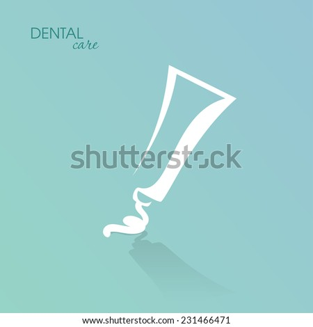 White tube with cream, paste, gel, ointment isolated on blue background. Vector illustration - stock vector