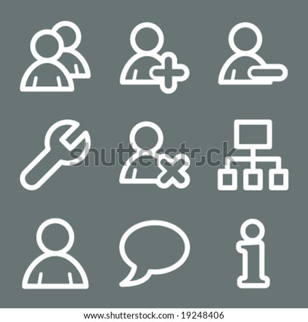 White users web icons V2 - stock vector