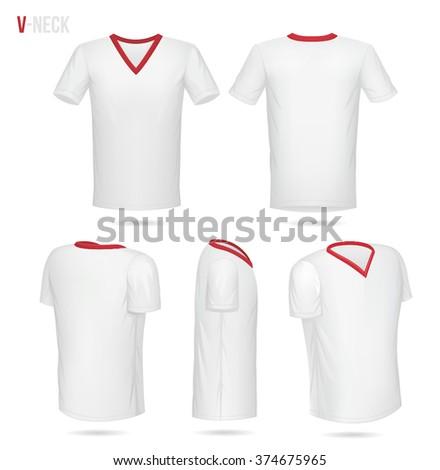 V neck shirt stock images royalty free images vectors for V neck back shirt