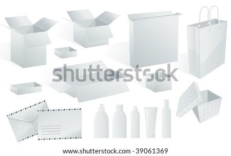 White. Vector. - stock vector