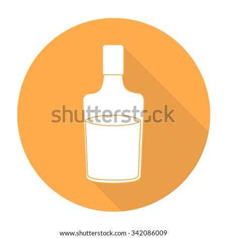 White vector drink on color circle background. - stock vector
