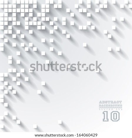 White vector geometric background can be used in cover design, book design, website background, CD cover, advertising.  - stock vector