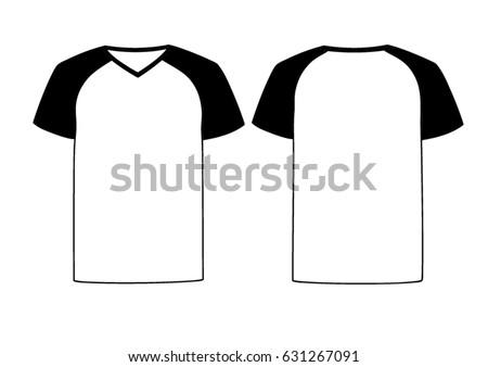White Vector Males Females Vneck Tshirt Stock Vector 631267091 ...