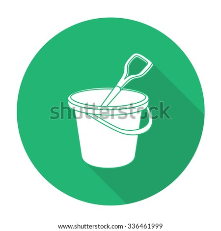 White vector tin on color circle background. - stock vector