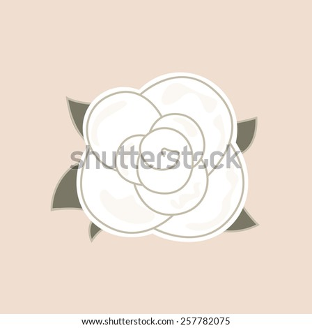 White vintage rose. Vector Illustration - stock vector