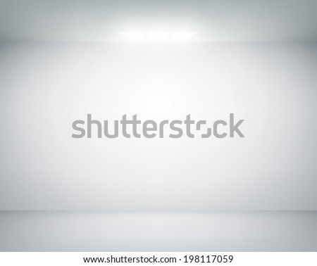 white wall on which shines a flashlight - stock vector