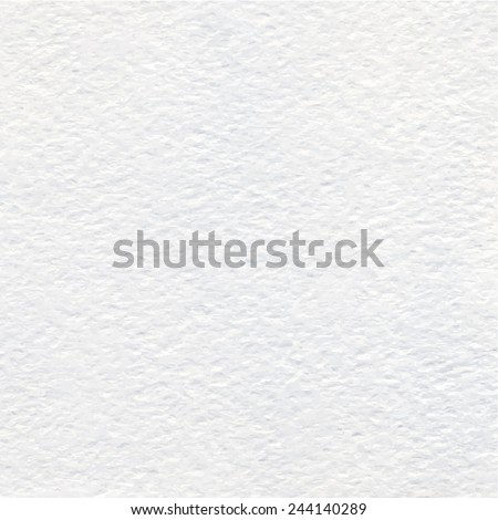 White Watercolor paper texture or background. Vector. - stock vector
