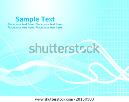 white waves and stripes with blue background