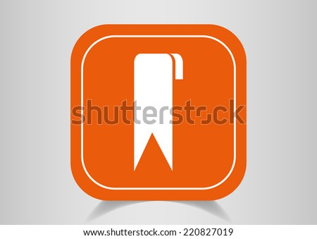 White web icon on the orange button