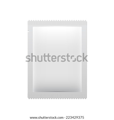 White wet wipes package vector illustration