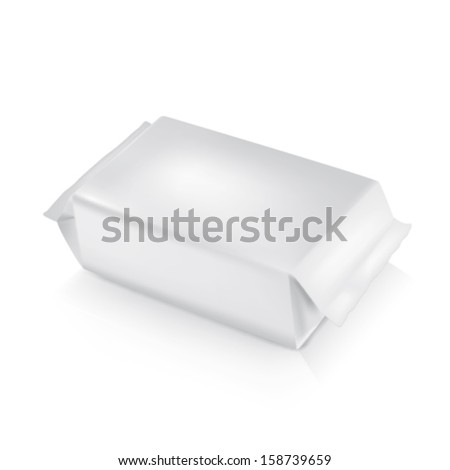 White wet wipes vector ready for your design - stock vector