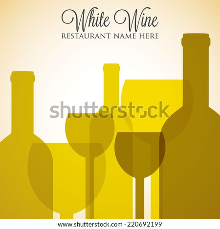 White wine list menu cover in vector format. - stock vector