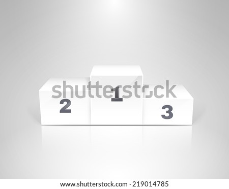 White winners podium for business concepts vector illustration - stock vector