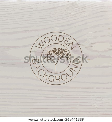 White wood texture background close up. Vector background - stock vector