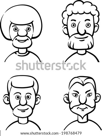 Stock images similar to id 54187828 avatar icon set 5 for Cute whiteboard drawings