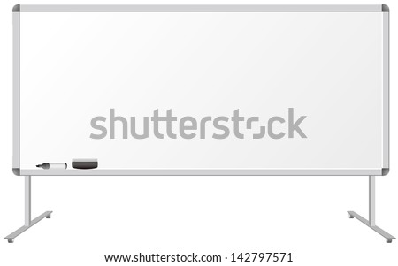 Whiteboard isolated Vector - stock vector