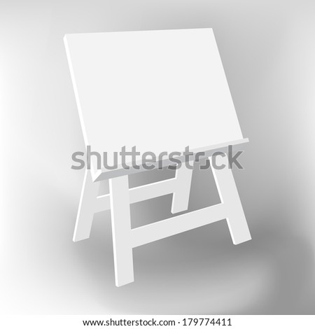 Whiteboard stand, illustration vector design. - stock vector