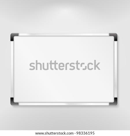 Whiteboard, vector eps10 illustration - stock vector