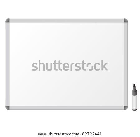 Whiteboard. Vector Illustration - stock vector