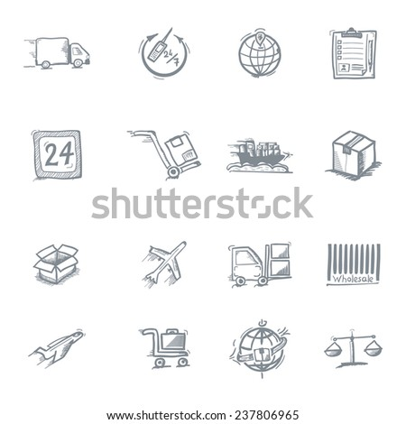 Wholesale icons, sketch on a white background - stock vector