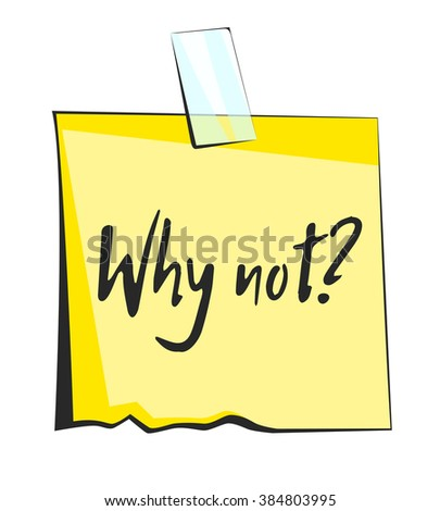 Why not paper sticky note. Retro reminder sticker