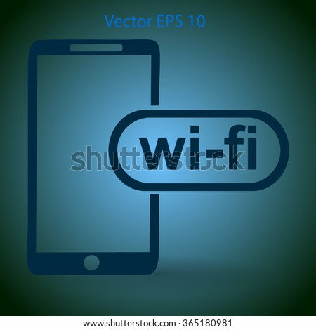 Wi fi access is available for your phone vector icon