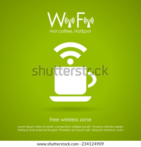 Wi-fi cafe icon - stock vector