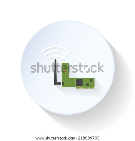 Wi-fi card flat icon