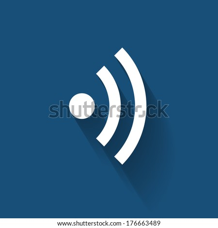 Wi-Fi Flat Icon for Different Electronic Devices. Vector Illustration  - stock vector