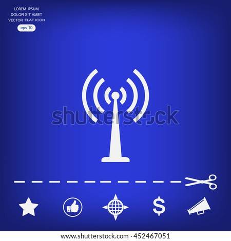 Wi-Fi icon button on white background - vector illustration.