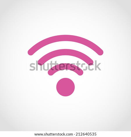 Wi-Fi Icon Isolated on White Background - stock vector