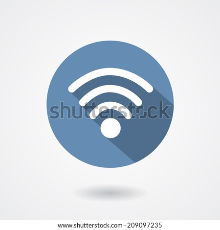 Wi-Fi icon isolated on white background. Vector illustration - stock vector