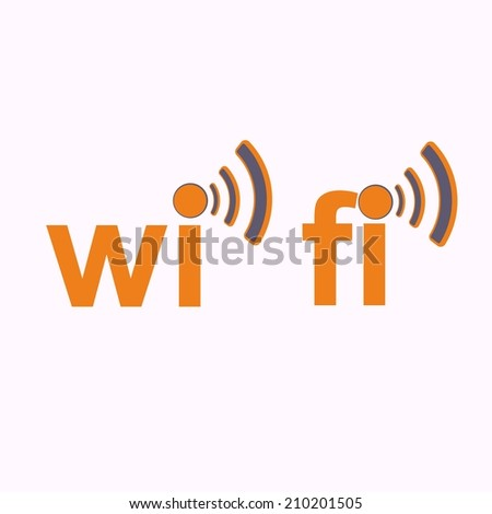 Wi fi icon over the white - vector illustration