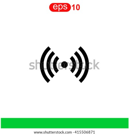 Wi fi icon. Wi fi icon vector. Wi fi icon illustration. Wi fi icon web. Wi fi icon Eps10. Wi fi icon image. Wi fi icon logo. Wi fi icon sign. Wi fi icon art. Wi fi icon flat. Wi fi icon design. - stock vector