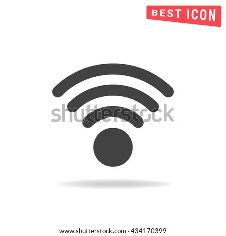 Wi-Fi Icon, Wireless network symbol, Wireless icon vector - stock vector