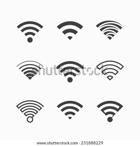 Wi-Fi icons. Vector. - stock vector