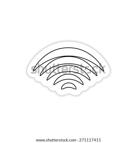 Wi-Fi network Icon on a white background with shadow - stock vector