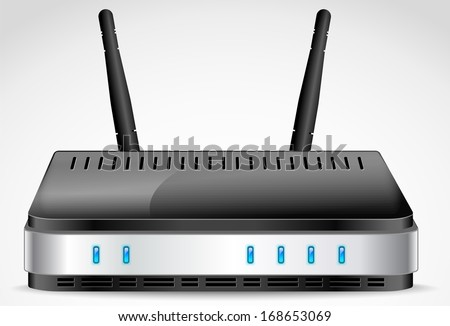 Wi-Fi Router detailed vector - stock vector